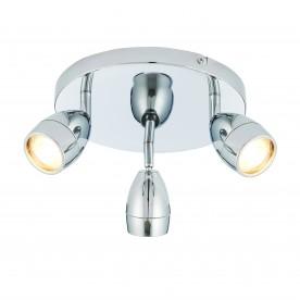 Porto 3lt round IP44 5W spot - chrome plate
