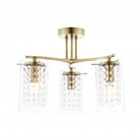 Alda 3lt semi flush 40W - antique brass