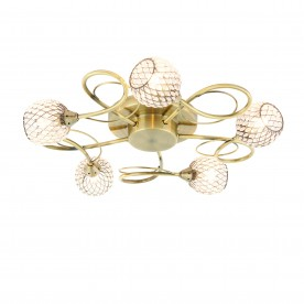 Aherne 5lt semi flush 33W - antique brass