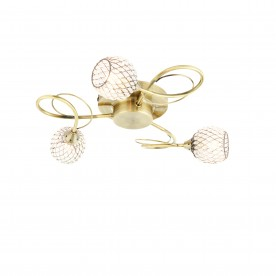 Aherne 3lt semi flush 33W - antique brass