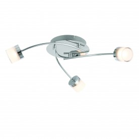 Ikos 3lt semi flush IP44 5.5W warm white - chrome plate