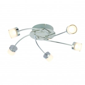 Ikos 5lt semi flush IP44 5.5W warm white - chrome plate