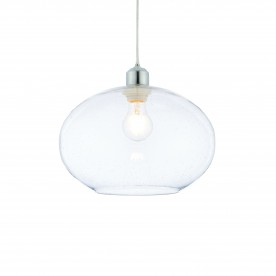 Dimitri non electric 40W pendant - clear glass with bubbles