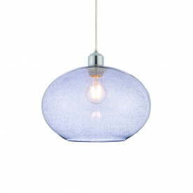 Dimitri non electric 40W pendant - grey glass with bubbles