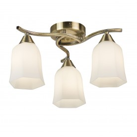 Alonso 3lt semi flush 40W - antique brass