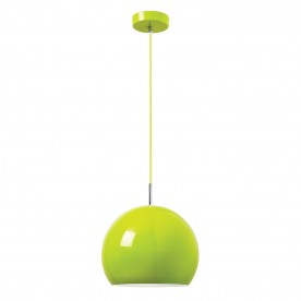 Alzira 1lt pendant 60W - gloss lime green