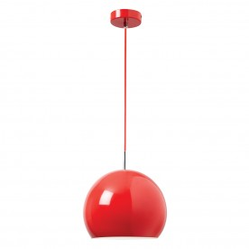 Alzira 1lt pendant 60W - gloss red