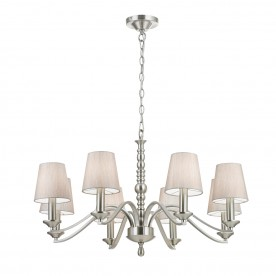 Astaire 8lt pendant 40W - satin nickel natural cotton mix