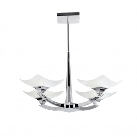 Ayres 4lt semi flush 33W - chrome plate