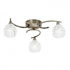 Boyer 3lt semi flush 33W - antique brass