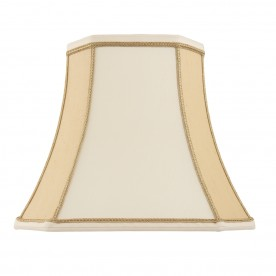 Camilla 10 inch shade - two tone cream faux silk