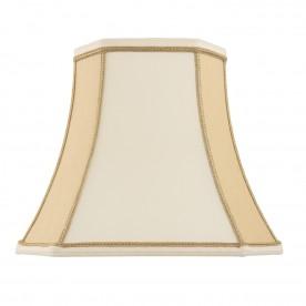 Camilla 10 inch shade - two tone cream faux silk