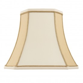 Camilla 12 inch shade - two tone cream faux silk
