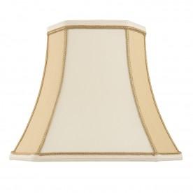 Camilla 12 inch shade - two tone cream faux silk