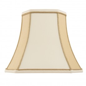 Camilla 14 inch shade - two tone cream faux silk