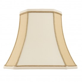 Camilla 16 inch shade - two tone cream faux silk