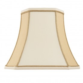 Camilla 18 inch shade - two tone cream faux silk