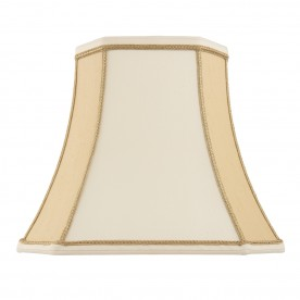 Camilla 5.5 inch shade - two tone cream faux silk