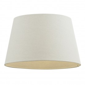 Cici 10 inch shade - ivory faux linen