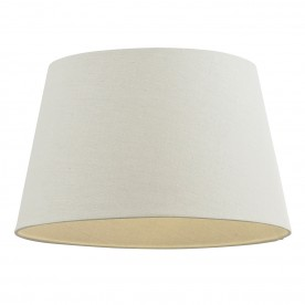 Cici 12 inch shade - ivory faux linen