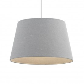 Cici 14 inch shade - grey faux linen