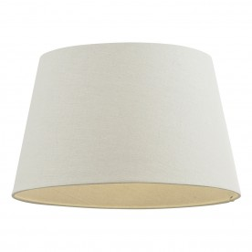 Cici 14 inch shade - ivory faux linen