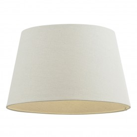 Cici 16 inch shade - ivory faux linen
