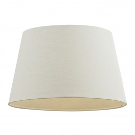 Cici 18 inch shade - ivory faux linen