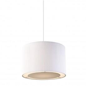 Colette non electric 60W pendant - white cotton mix chrome plate