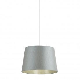 Cordelia 12 inch shade - silver grey faux silk