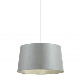 Cordelia 16 inch shade - silver grey faux silk
