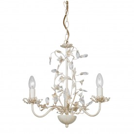 Lullaby 3lt pendant 60W - cream brushed gold
