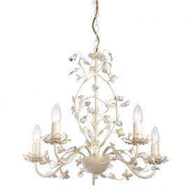 Lullaby 5lt pendant 60W - cream brushed gold