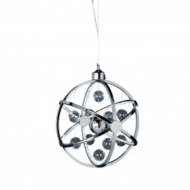 Muni 390mm pendant 7.2W warm white - chrome plate