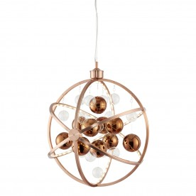 PLANET 480mm pendant 10.1W warm white - copper plate