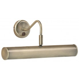 Turner 2lt 355mm wall 6.2W SW warm white - antique brass