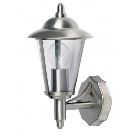 Klien uplight 1lt wall IP44 60W - polished stainless steel