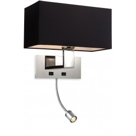 Maxim Wall LED - Satin Nickel - With Shade