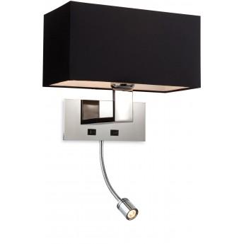 Maxim Wall LED - Satin Nickel - With Shade