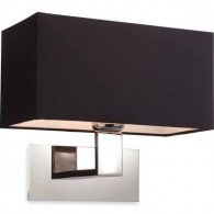 Maxim Wall - Satin Nickel - With Shade