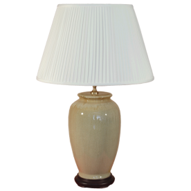 TL133-329 - Brown Natural Glaze Table Lamp Complete