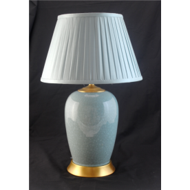 TL1403  - Crackle Glaze Duck Egg Blue Table Lamp Complete