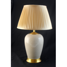 TL1405 - Cream Crackle Glaze Table Lamp Complete