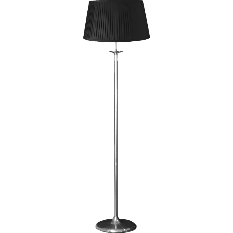 Elegance Floor Stand Lamp Satin Nickel Complete