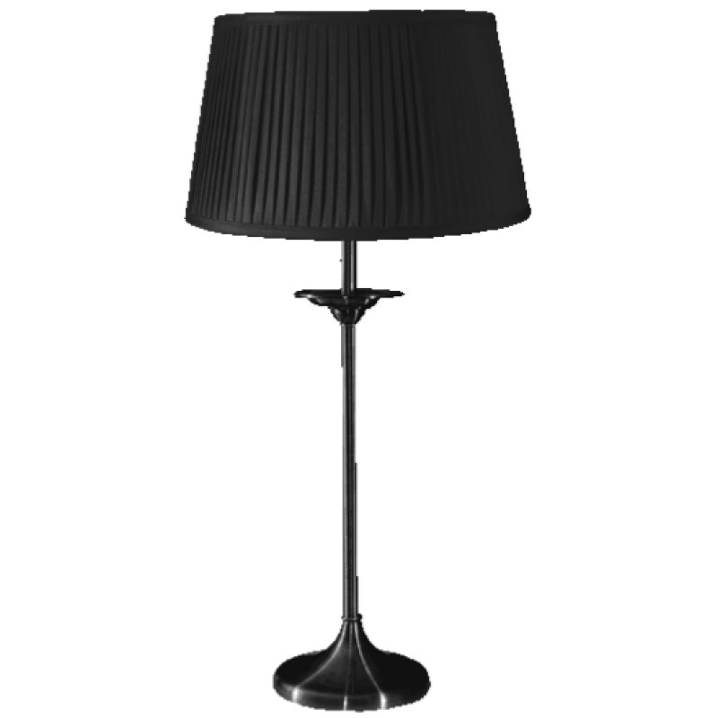 Elegance Medium Table Lamp Satin Nickel Complete
