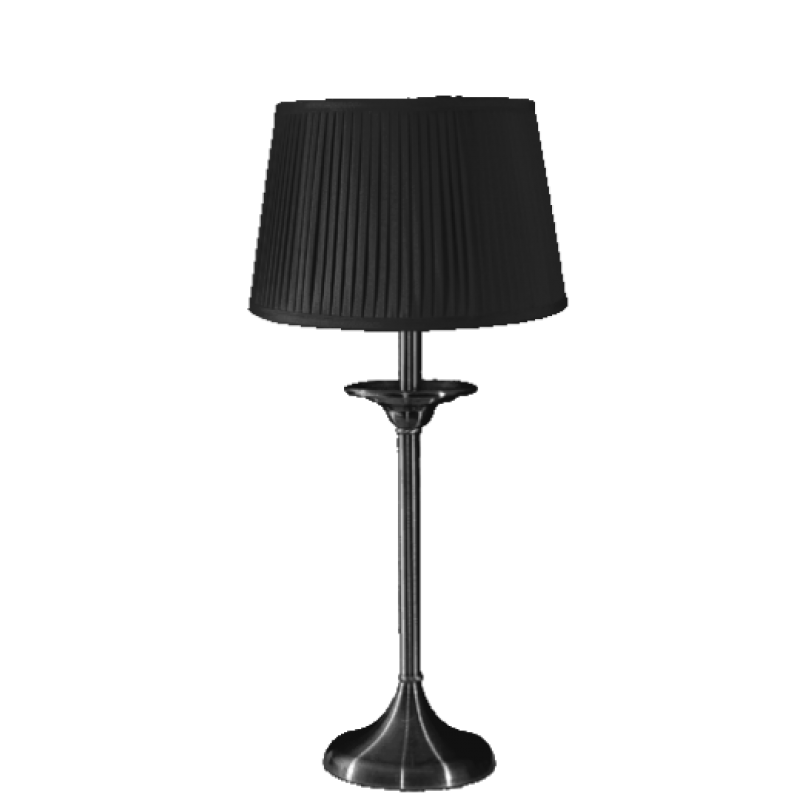 Elegance Small Table Lamp  Satin Nickel Complete