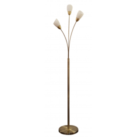 Furama 3 Light Floor Lamp - Antique