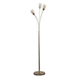 Furama 3 Light Floor Lamp - Satin Nickel