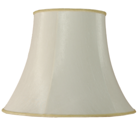 "10"" Bowed Empire Ivory Lamp Shade"