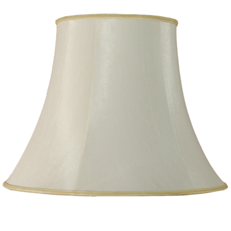 "22"" Bowed Empire Ivory Lamp Shade"